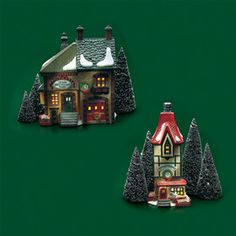 """Department 56: Products - """"North Pole Shops"""" - View Lighted Buildings"""