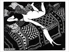 La Paresse - Vallotton  / Affiche d'Art de la collection vintage de Slap Boutique : Le Grenier