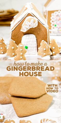 How to make a gluten free gingerbread house, the easy way. All you need are two different shapes of gingerbread cookies, and plenty of icing!