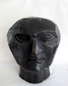 Cast Bronze Abstract Cubist Portrait Bust of Jacques Lipchitz, Elena Kepolas, www.springgallerymaine.com, www.modernartfoundry.com
