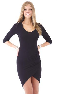 This simple black dress is so comfortable and cute!