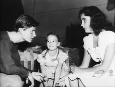 Roddy McDowell, Natalie Wood, and Elizabeth Taylor (1948)