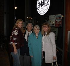 """September 2015 with Film Producer Eleanor McGrath and British Home Child George Beardshaw, his wife Emma and Lori Oschefski at the showing of the BHC Documentary """"Forgotten"""" in Hamilton, Ontario"""