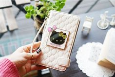GALAXY A7 CUTE HELLO KITTY MIRROR SMART WALLET CASE. $34.99