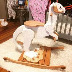 My friend's incredible, hand-carved Taun Taun rocking horse. (x-post from /r/StarWars)