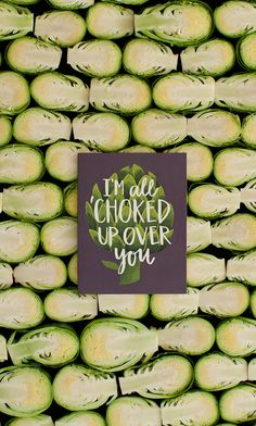 For the artichoke of your heart! This funny, punny card would be great for an every day love note or for a fun anniversary chuckle | All Choked Up by @1canoe2