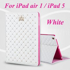 Newest Fashion Crown PU Leather tablet case stand cover for Apple iPad air 2 for iPad air for iPad mini 3
