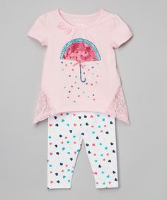 Another great find on #zulily! Strawberry Umbrella Tunic & Leggings - Infant, Toddler & Girls #zulilyfinds