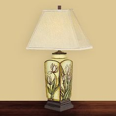 JB Hirsch J15389 Elegent Flower Porcelain Table Lamp