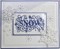 Let it Snow, Let it Snow, Let it Snow... Today's offering is a beautiful sparkly Christmas card, using the Let it Snow Die from the Festive Collection of Sue's range of Craft Dies. This is an absolutely STUNNING card by Sue, and really encapsulates the spirit of winter.https://www.youtube.com/watch?v=nR9P1LP0Xyk
