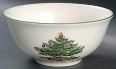 Spode CHRISTMAS TREE (GREEN TRIM) Potpourri Nut Chip Bowl 3550864