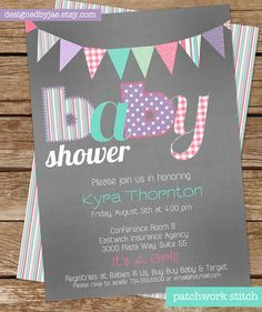 baby shower invitations vintage - Buscar con Google