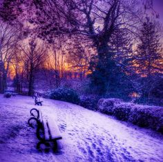 Pretty winter sunset - Clitheroe, England.