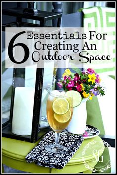 6 ESSENTIALS FOR CREATING AN OUTDOOR SPACE- Here's how to create a great outdoor space without spending a lot of money-stonegableblog.com