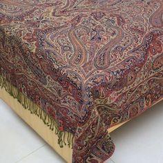 Amazon.com: Bedroom Decor Indian Bedspread Wool Blanket Warmer Twin: Home & Kitchen