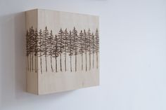 Wood-burned trees by Emilie Crewe #woodburning #trees #art #wood