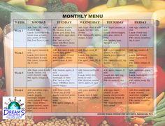 2013-10-7 Daycare Menu | Info on Child Nutrition | Pinterest ...