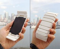 Mobile phone concept named Curious, features a multi-sensory notification system that alerts the user to incoming calls with not only a standard vibration and ring, but also a complete changing of its shape!