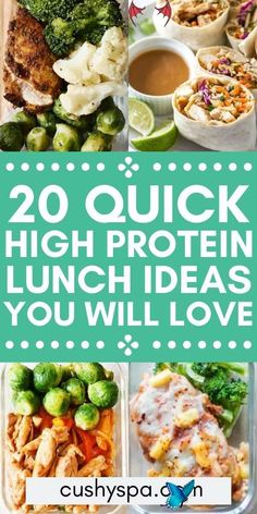 20 High Protein Lunch Ideas To Keep You Full If you're on a high protein diet, try these packable lunch ideas that are healthy and full of protein. High protein recipes can be so delicious and healthy!<br> These high protein lunches are delicious and nutritious. You can get inspiration for your high protein meal prep or even dinner, so check out these high protein recipes. High Protein Lunch Ideas, High Protein Meal Prep, High Protein Snacks, High Protein Low Carb, High Protein Recipes, Healthy Protein, Protein Foods, Easy Salad Recipes, Healthy Crockpot Recipes
