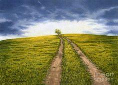 The Road Less Traveled Painting by Sarah Batalka