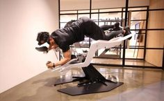 Icaros VR combines fitness and virtual reality to create exciting and effective exercise experiences. The pilot is using balance, coordination, core muscle tension and reaction to steer through three dimensional virtual worlds. We call it Active VR. Muscle Tension, Sports Training, Core Muscles, Submarines, Virtual World, Three Dimensional, Fitness Fashion, Pilot, Exercise