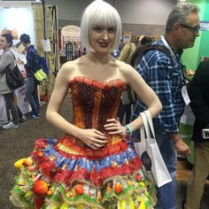 Beautiful candy girl at #ExpoWest #ExpoWest2016 #naturalfoodsexpo