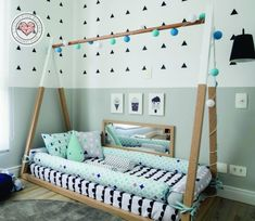 ♥ Tent Bed Montessori Bed is an amazing floor bed for children to sleep and play and will make transitioning from a crib to a toddler/twin/full bed smoothly. We are a small family business and our process is totally handmade. Youll have a unique piece, made with lots of love! THE COLOR