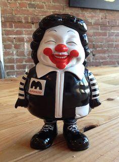 MC Supersize Ronald McDonald Black Vinyl Art Toy by Ron English
