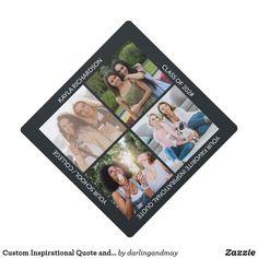 Square Photos, 4 Photos, Pictures, Graduation Photos, Graduation Gifts, Create Your Own, Create Yourself, Graduation Cap Toppers, Artwork Design