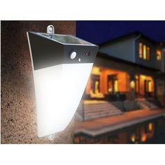 NUOVO!! Applique ad energia solare con pannello incorporato ed allarme sonoro!! Flusso luminoso massimo 200 lumen, allarme sonoro incorporato, si può attivare o disattivare tramite il punlsante!! Non perdete l' occasione!!