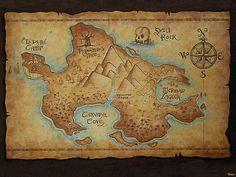 Neverneverland map