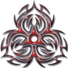 custom biohazard elbow tat design with effects Tribal Hazard Body Art Tattoos, Sleeve Tattoos, Cool Tattoos, Tatoos, Tribal Tattoo Designs, Biohazard Tattoo, Red Dragon Tattoo, Sharpie Tattoos, Biomechanical Tattoo