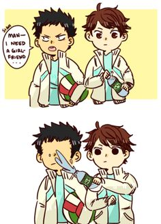 """NO, you don't"" <3 Iwaizumi & Oikawa - Iwaoi / Oiiwa"