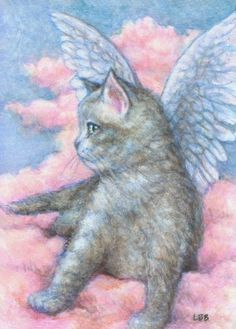 Angels Cat Art by Lynn Bonnette: August 2010