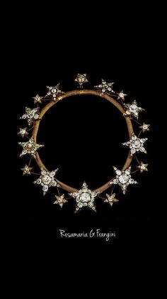 Rosamaria G Frangini | TJS | High Royal Jewellery | The Necklace of the Stars, is a diamond necklace originally made for Queen Consort Maria Pia of Savoy. It is a piece of the Portuguese Crown Jewels, made in 1865 for the wife of King Luís I of Portugal, Queen Cosort Maria Pia of Savoy.