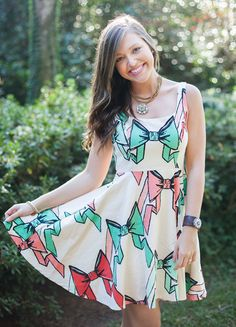 We're IN LOVE with this bow-print dress from Judith March. Coming Spring 2014 to a #JMRetailer near you!  www.JUDITHMARCH.com