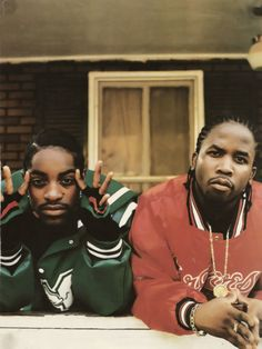 Dre&Dre: 3Stacks and Daddy Fat Sacks, the original #ATLiens posted in the A. (Photo c.1998) #OutKast