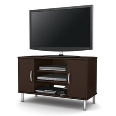 Bell O TV Stand 3 shelf Corner unit Black Glass High Quality TV