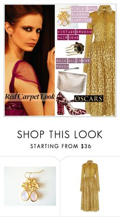 Red Carpet at the Oscars by teoecar on Polyvore featuring Sophie Theallet, vintage, cassiopeiafall and orchhajewels