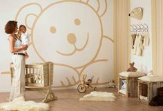 Bedroom , Unique Baby Room Ideas for Welcoming The Special Creature From Heaven : Charming Beds With Teddy Bear Theme For Unique Baby Room Idea