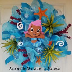 Bubble Guppies Wreath by aDOORableWreathsByMH on Etsy, $75.00