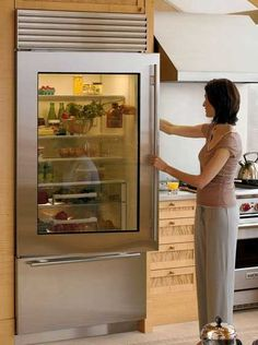 as long as sunlight isn't hitting directly at the fridge, then it'll look great in the kitchen