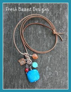 odds and ends necklace -- what a great idea for using leftover beads and stuff