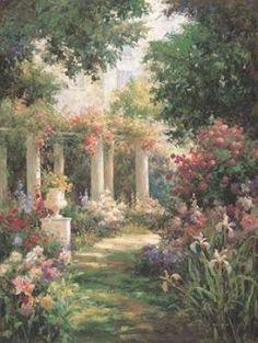 Ancient Garden Columns Poster Print by Vail Oxley x Brande, Nature Aesthetic, Classical Art, Renaissance Art, Pretty Art, Pretty Pictures, Aesthetic Pictures, Garden Art, Beautiful Gardens