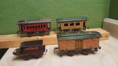 RARE Ives Pre War Tin Empress Princess Baggage Tender Old Tin Litho Toy Trains | eBay