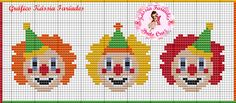 Χειροτεχνήματα: σχέδια με κλόουν για κέντημα / clown cross stitch patterns