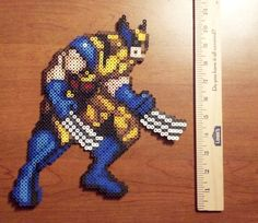 Wolverine perler sprite from XMen Children of the Atom, by Hirosspriteshop, $13.00