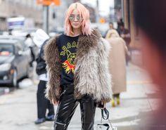 Irene Kim of IreneisGood New York Fashion Week Rock Chic Street Style photo by Armenyl.com