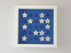 Image of Stars - Small - Dark Blue/Silver Glitter Silver Glitter, Blue And Silver, Dark Blue, Star Images, Reaching For The Stars, Paper Art, Alphabet, Nursery, Quote