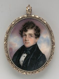 Portrait of a Gentleman  Anna Claypoole Peale  (1791–1878)  Date: 1832 Medium: Watercolor on ivory in gold foliate locket Dimensions: Sight: 2 5/8 x 2 1/16 in. (6.7 x 5.2 cm)